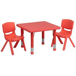 Flash Furniture YUYCX00232SQRTBLREDRGG
