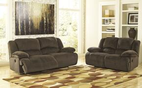 Esteban Collection MI-2742PSL-CHOC 2-Piece Living Room Set with 2-Seat Reclining Power Sofa and Reclining Power Loveseat in Chocolate