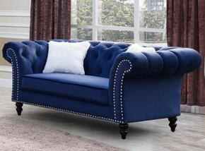 Cosmos Furniture GABYLOVESEATBLUEVELVET