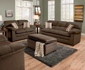 Lakewood 3685-0302015095 4 Piece Set including Sofa, Loveseat, Chair and Ottoman  with  Fabric Upholstery in Cappuccino