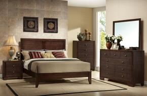 19567EKDMCN Madison Eastern King Size Panel Bed + Dresser + Mirror + Chest + Nightstand in Espresso Finish