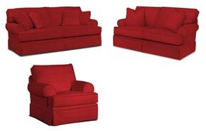 Emily 6262SLC/4022-65 3-Piece Living Room Set with Sofa, Loveseat and Chair in 4022-65 Red
