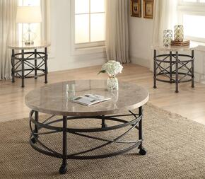 Nestor 80440CE 3 PC Living Room Table Set with Coffee Table + 2 End Tables in Antique Black Finish