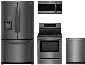 4-Piece Black Stainless Steel Kitchen Package with FGHF2367TD 36