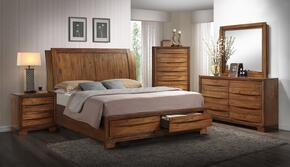 Sonoma Storage SS-BJ600-K-BED-SET 5 Piece King Size Bedroom Set with Bed + Dresser + Mirror + Chest + Nightstand