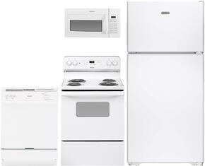4-Piece White Kitchen Package with HPE15BTHWW 28
