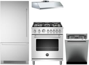 4-Piece Stainless Steel Kitchen Package with REF30PIXL 30
