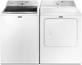 White Top Load Laundry Pair with MVWB766FW 28