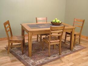 Sedona Collection 1170RODT4C 5-Piece Dining Room Set with Dining Table and 4 Chairs in Rustic Oak Finish