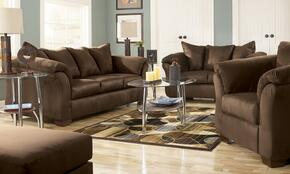 75004384PCKIT Darcy 4-Piece Living Room Set with Sofa + Loveseat + Chair & Ottoman in Cafe