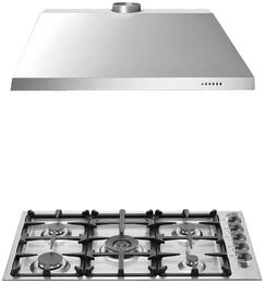 "2-Piece Stainless Steel Kitchen Package with Q36M500XLP 36"" Liquid Propane Cooktop and KU36PRO1X14 36"" Canopy Hood"