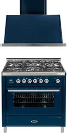 2-Piece Midnight Blue Kitchen Package with UMT906DMPBL 36