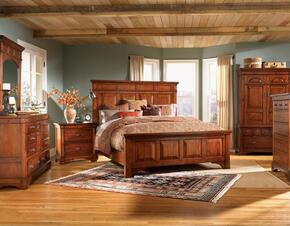 KALRM5130K5P Kalispell 5-Piece Bedroom Set with King Sized Mantel Bed, Chest, Dresser, Mirror and Single Nightstand