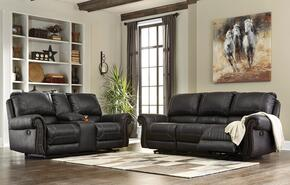 Milhaven 6330388SL 2 PC Living Room Set with Reclining Sofa + Reclining Loveseat in Black Color