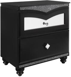 Global Furniture USA BEVERLYMETALLICBLACKNS