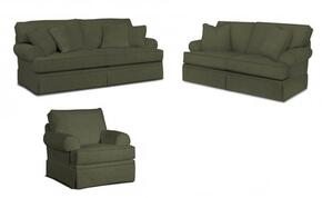 Emily 6262SLC/4022-95 3-Piece Living Room Set with Sofa, Loveseat and Chair in 4022-95 Grey