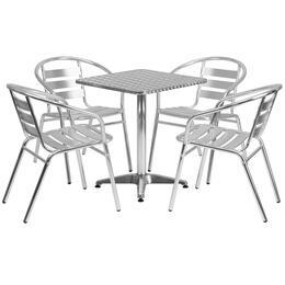 Flash Furniture TLHALUM24SQ017BCHR4GG