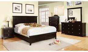 Spruce Collection CM7113EXCKBDMCN 5-Piece Bedroom Set with California King Bed, Dresser, Mirror, Chest, and Nightstand in Espresso Finish