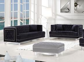 Lucas Collection 6092PCSTLKIT4 2-Piece Living Room Sets with Stationary Sofa, and Loveseat in Black