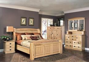 AHINT5070Q6P Amish Highlands 6-Piece Bedroom Set with Arch Panel Queen Bed, Chest, Dresser, Mirror and Two Nightstands