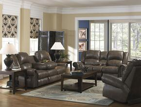 Livingston Collection 4505-1274-28/3074-28SET 3 PC Living Room Set with Reclining Sofa + Loveseat + Recliner in Smoke Color