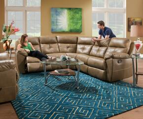 Bradford Toast 5320019BR Transitional Sectional and Recliner with Stitched Detailing
