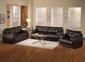 Terrence 51740SLC 3 PC Living ROom Set with Sofa + Loveseat + Chair in Espresso Color