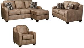 Alturo 60003SLC 3-Piece Living Room Set with Sofa Chaise, Loveseat and Armchair in Dune