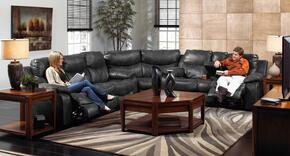 Catalina Collection 4311-1227-28/3027-28SEC 3 PC Sectional Sofa Sec with Reclining Sofa + Loveseat + Wedge in Steel Color