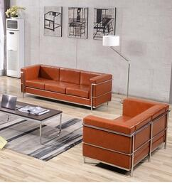 Hercules Regal Collection ZBREGAL8103SLCOGGG 2-Piece Living Room Sets with Stationary Sofa, and Loveseat in Cognac