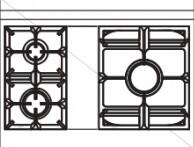 90 US C1 Cooktop Configuration wi...