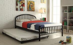 Cailyn Collection 30460TBKT 2 PC Bedroom Set with Twin Size Bunk Bed + Trundle in Black Finish