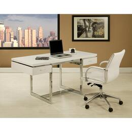 "Josephina DT-517-JP-164 Office Set with Dupont 62"" Long Office Desk in Matte White and Josephina Office Chair"