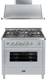 2-Piece Stainless Steel Kitchen Package with UMT906DMPI 36
