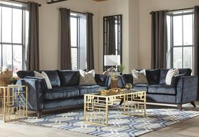Amsterdam Collection 505524SET 2 PC Living Room Set with Sofa + Loveseat in Midnight Color
