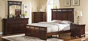 00455210220230DMNC 5 Piece Bedroom Set with California King Madera Bed, Dresser, Mirror, Nightstand and Chest, in Chestnut