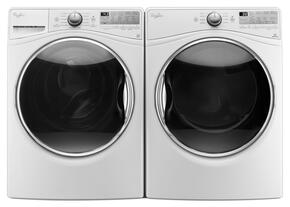 "White Front Load Laundry Pair with WFW92HEFW 27"" Washer and WGD92HEFW 27"" Gas Dryer"