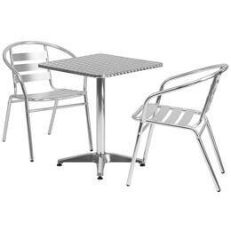 Flash Furniture TLHALUM24SQ017BCHR2GG