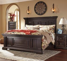 Willenburg Queen Bedroom Set with Panel Bed and a Single Nightstand in Dark Brown