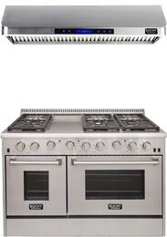 Professional Series 2-Piece Stainless Steel Kitchen Package with KRG4804U 48
