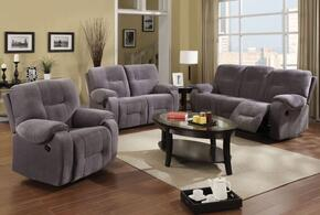 Villa 50800SLR 3 PC Living Room Set with Sofa + Loveseat + Recliner in Light Grey Color