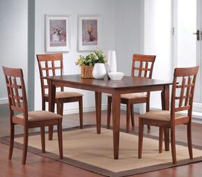 101771SET72 Mix & Match Wheat Back 5 PC Dining Set in Walnut Finish (Table and 4 Chairs) by Coaster Co.