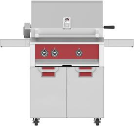 "30"" Natural Gas with ECD30RD Tower Grill Cart with Two Doors, in Matador Red"