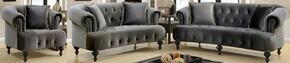 Furniture of America CM6179GYSFLVCH