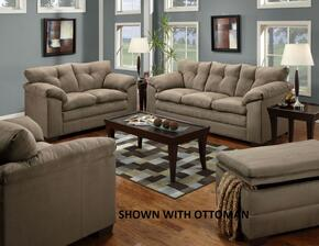 Luna 6565-0302015 3 Piece Set including Sofa , Loveseat and Chair and a Half with Tufted Back  in Mineral
