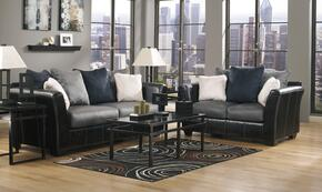 Masoli 14200SL3TR2LTA 13-Piece Living Room Set with Sofa, Loveseat, 3PC Table Set, Rug, 2 Lamps and 5PC Table Accessories in Cobblestone