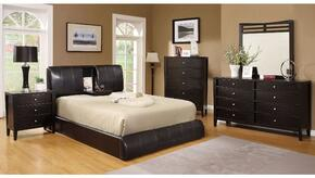 Webster Collection CM7027CKBDMCN 5-Piece Bedroom Set with California King Bed, Dresser, Mirror, Chest, and Nightstand in Espresso Color