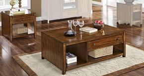 3071110CE Contempo 2 Piece Occasional Table Set with Cocktail Table and End Table, in Burnished Walnut