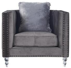 Global Furniture USA UFM802ADRKGRYVELVETCC68CH