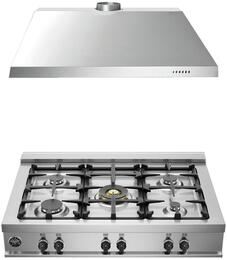 "2-Piece Stainless Steel Kitchen Package with CB36MX500 36"" Natural Gas Rangetop and KU36PRO1X14 36"" Range Hood"